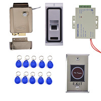 Remote Control 125KHz RFID Fingerprint Keypad ID Card Reader Access Control System Kit Magnetic Lock
