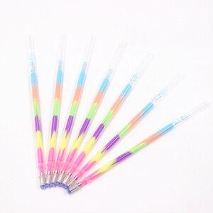 Image 5 - Jonvon Satone stylo recharge multicolore, 200 pièces, arc en ciel, surligneur, stylo Gel, papeterie, stylos peinture graffitis, cadeau