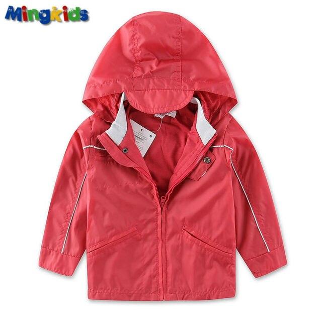 Mingkids ветровка куртка малыш мальчик весна осень лето дождевик хлопковая мягкая подкладка водонепронецаемая ветронепродуваемая верхняя одежда для детей демисезонная бренд фирменная одежда европейский размер
