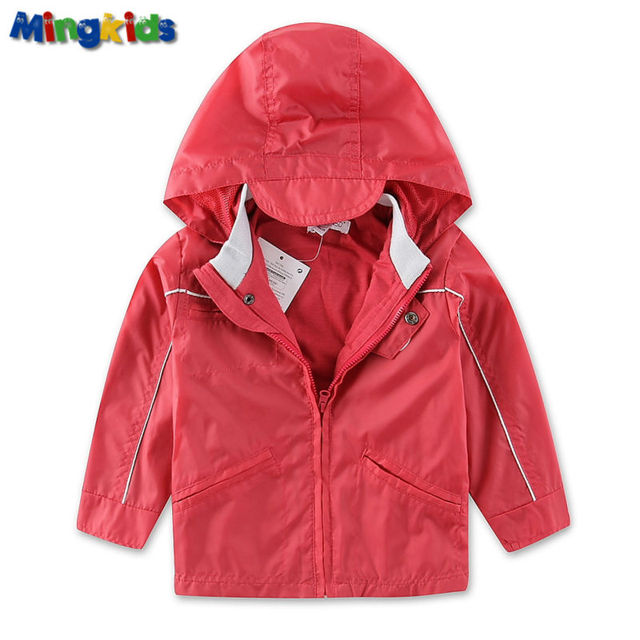 Mingkids alta calidad chaqueta cazadora para el bebé niños a prueba de agua con forro de algodón exterior impermeable impermeable capucha deporte otoño primavera