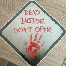 1x Red Bloody Hands Walking Dead Inside Dont Open Car Window Vinyl Decal Sticker