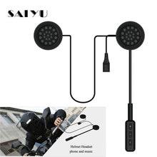 SAIYU Motorcycle Helmet Headset Bluetooth Wireless Helmet Handsfree Speakers Music Headphones for MP3 GPS Phone