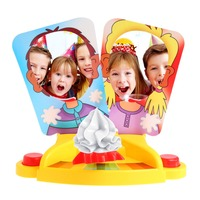 M89CPrank Funny Double Person Toy Cake Cream Pie In The Face Anti Stress Toy for Kid Hot!