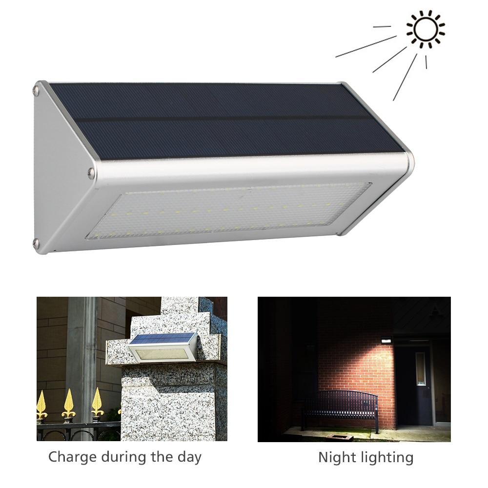 800Lumen Wireless Solar Powered 48 LED Solar Light Waterproof IP65 PIR Motion Sensor Outdoor Wall/Garden Light Pathway Wall Lamp