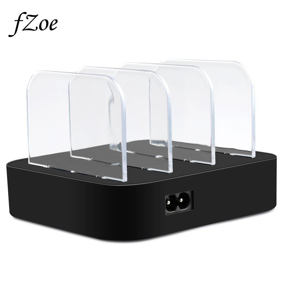 fZoe 3 Port Charger Stand Holder With 3 Pcs USB Charging