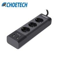 CHOETECH Smart USB Power Strip Socket 17W Home Office UK US EU Plug USB Charger For