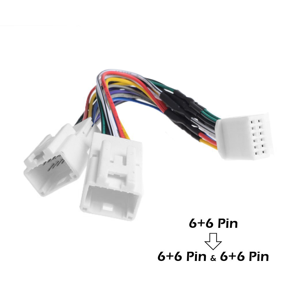 us $10 05 13% off apps2car 6 6 pin to 6 6pin \u0026 6 6pin y cable radio wiring harness for toyota lexus scion usb adapter cd changer navigation device in 6 pin trailer wiring harness iso connector wire harness with 6 pin
