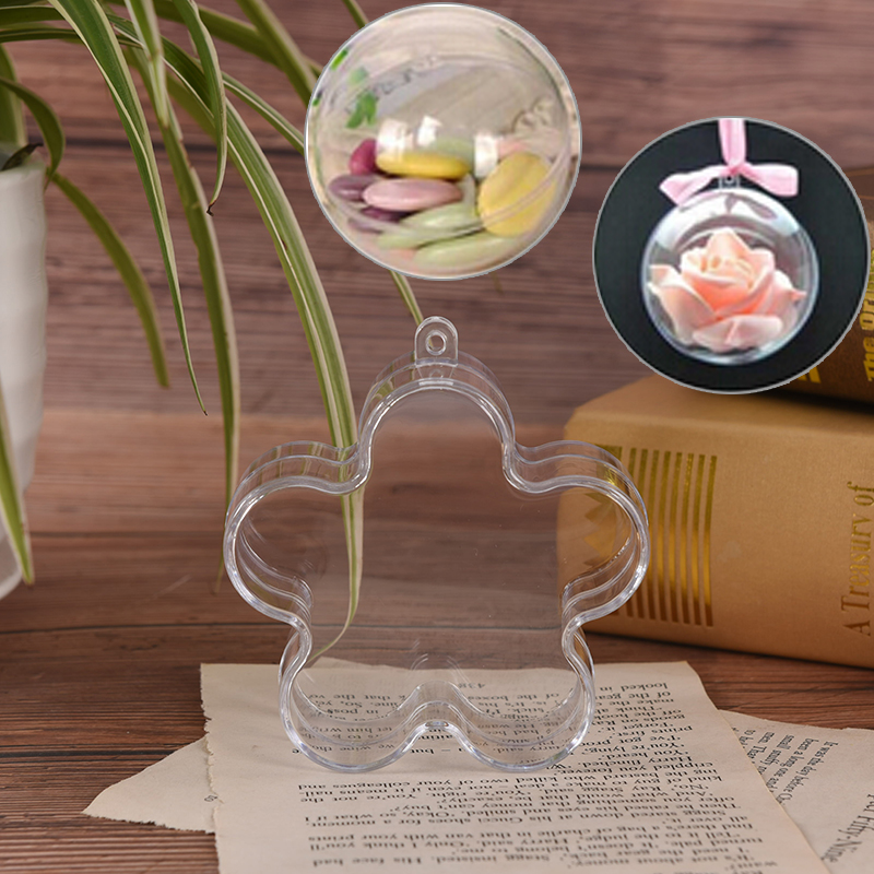 1pcs Plastic Clear Bath Bomb Molds Flower Shape Plastic Bath Bomb Mould DIY Bathing Tool Accessories Creative Molds