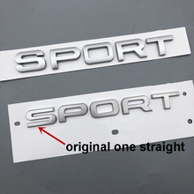 Original Font Matte Silver SPORT Letters Emblem Car Styling Trunk Logo Replacement for Land Rover Range Rover Sticker 2014-2018 стоимость