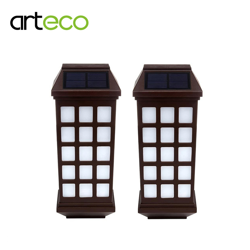 2PCS/Lot Solar <font><b>Light</b></font> Waterproof Outdoor Garden Lantern Solar Lamp Pathway Fence Porch <font><b>Lights</b></font> Wall <font><b>Light</b></font> Warm white