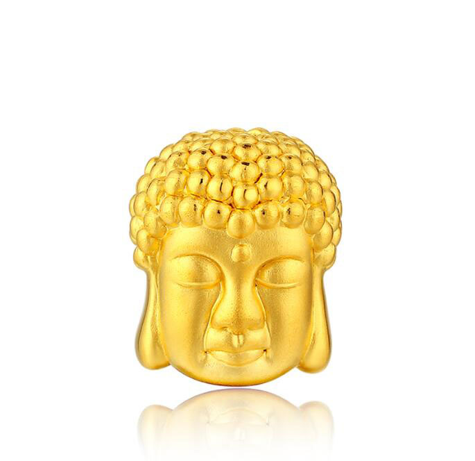 Pure 24K Yellow Gold 3D Buddha Pendant 1gPure 24K Yellow Gold 3D Buddha Pendant 1g