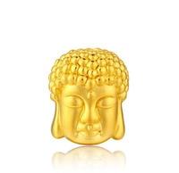 Pure 24K Yellow Gold 3D Buddha Pendant 1g