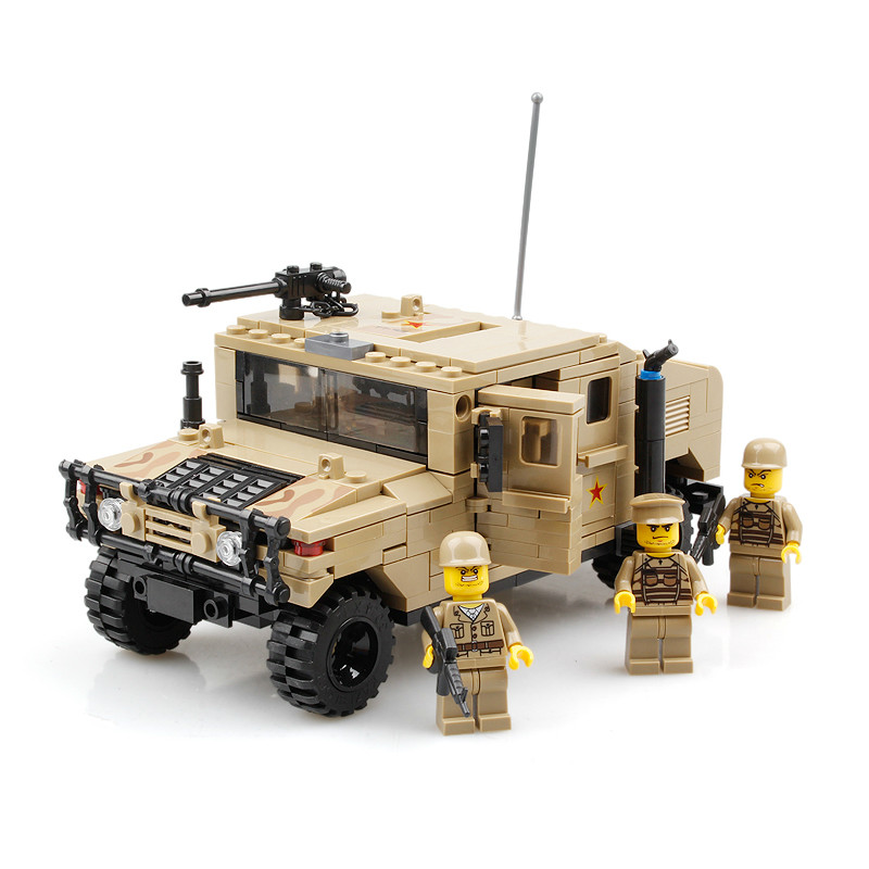 Compatible LEPIN Toys Military War Hummer Building Blocks Toys For Child Field Force Heavy Type Model Building Brick Soldier Chr lepin 22001 pirate ship imperial warships model building block briks toys gift 1717pcs compatible legoed 10210