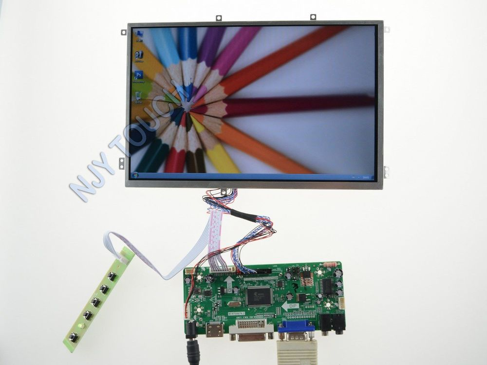 Free Shipping HDMI DVI VGA LCD Controller Kit+10.1 inch LP101WX1-SLP2 1280x800 LED Screen
