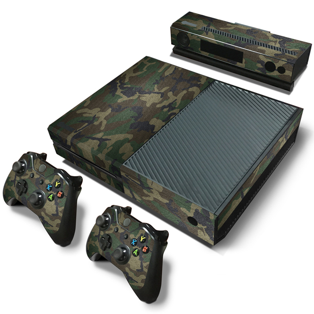 Camouflage camo pattern removable waterproof vinyl sticker protective cover film decal skin for xbox one console