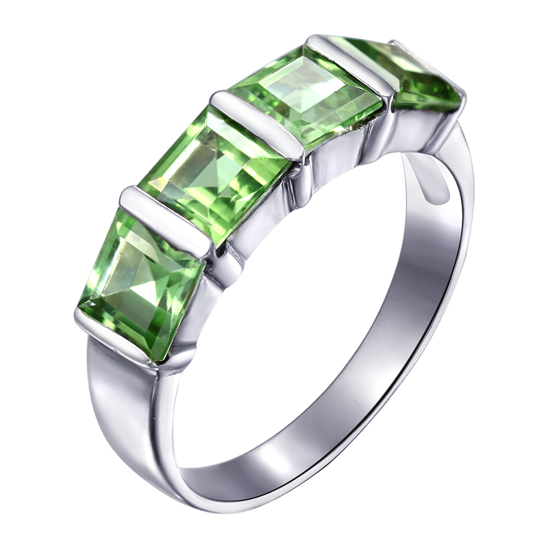 Natural Peridot Ring 925 Sterling Silver Green Woman Fashion Fine Elegant Jewelry Girl Lux Birthstone Gift sr0169p natural green peridot ring 925 sterling silver crystal rose gold plated woman fashion fine elegant jewelry queen birthstone gift