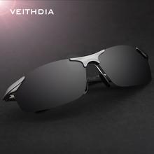 VEITHDIA Aluminum Magnesium Polarized Sunglasses Men Sports Sun Glasses Driving Mirror Goggle Eyewear Accessories For Men 6529