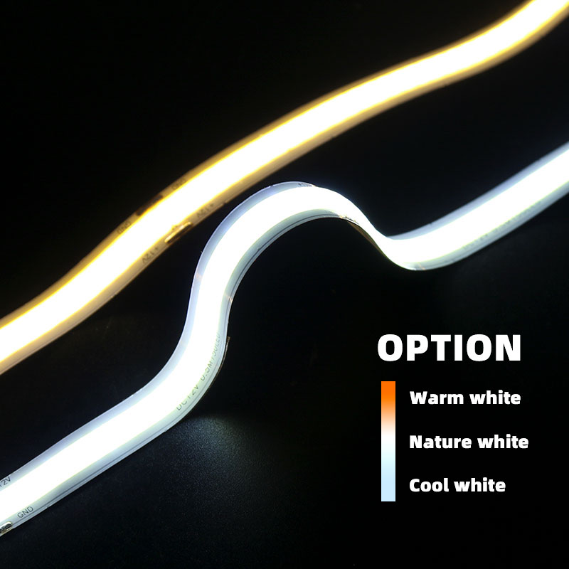 COB/FOB High Density LED Flexible Strip Light, 300 LEDs/m Strip Light, 50cm/ Loop, Nature White, Warm White, Cool White Option