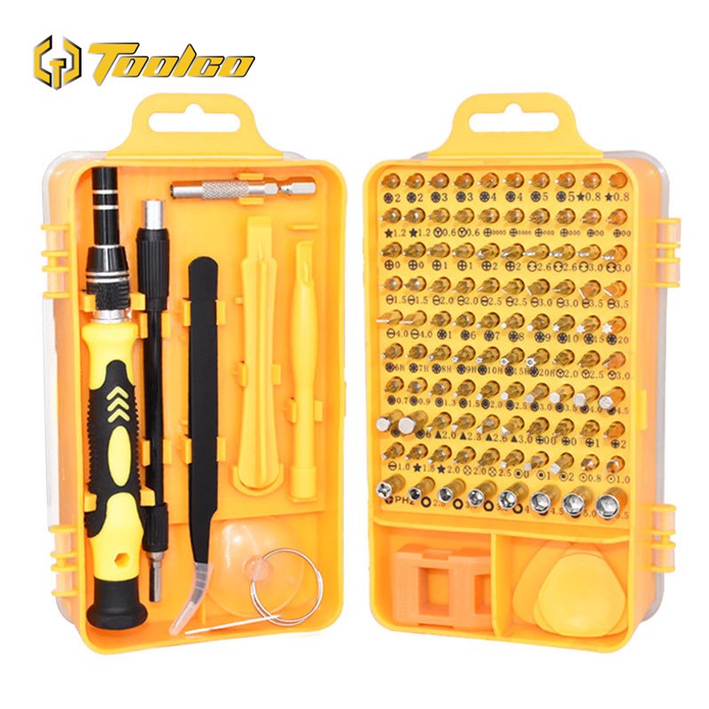 115 In 1 Magnetic Torx Screwdriver Set Lengthen Muti Precision Screwdrivers For PC Phone Hand Tools Kits With Crowbar Tweezers