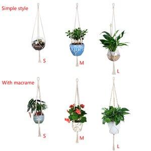 Image 2 - WITUSE 1PC Macrame rośliny wieszak 4 nogi Retro kwiat garnek wiszące ze zwisającymi linkami ciąg strona główna ogród dekoracja balkonowa Wall Art