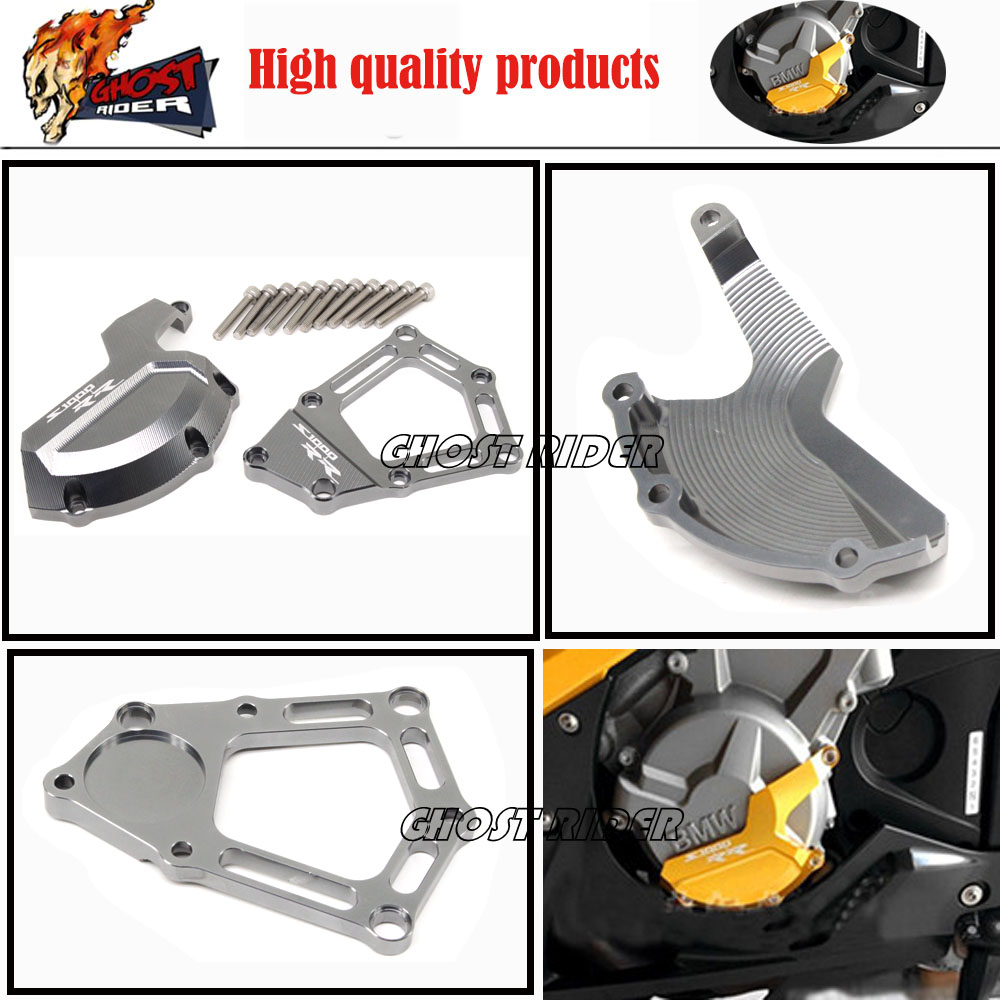 New Style fits for BMW S1000RR S1000R HP4 K42 K46 2009-2015 Motorcycle CNC Aluminum Engine Stator Cover Case Slider Protector Se aluminum water cool flange fits 26 29cc qj zenoah rcmk cy gas engine for rc boat