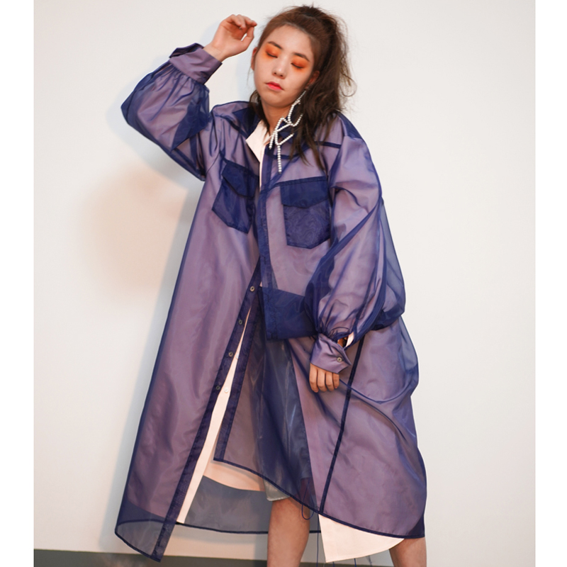 SuperAen New 2019 Spring Trench Coat for Women Wild Casual Fashion Fake Two Pieces Windbreaker Female Europe Women Clothing