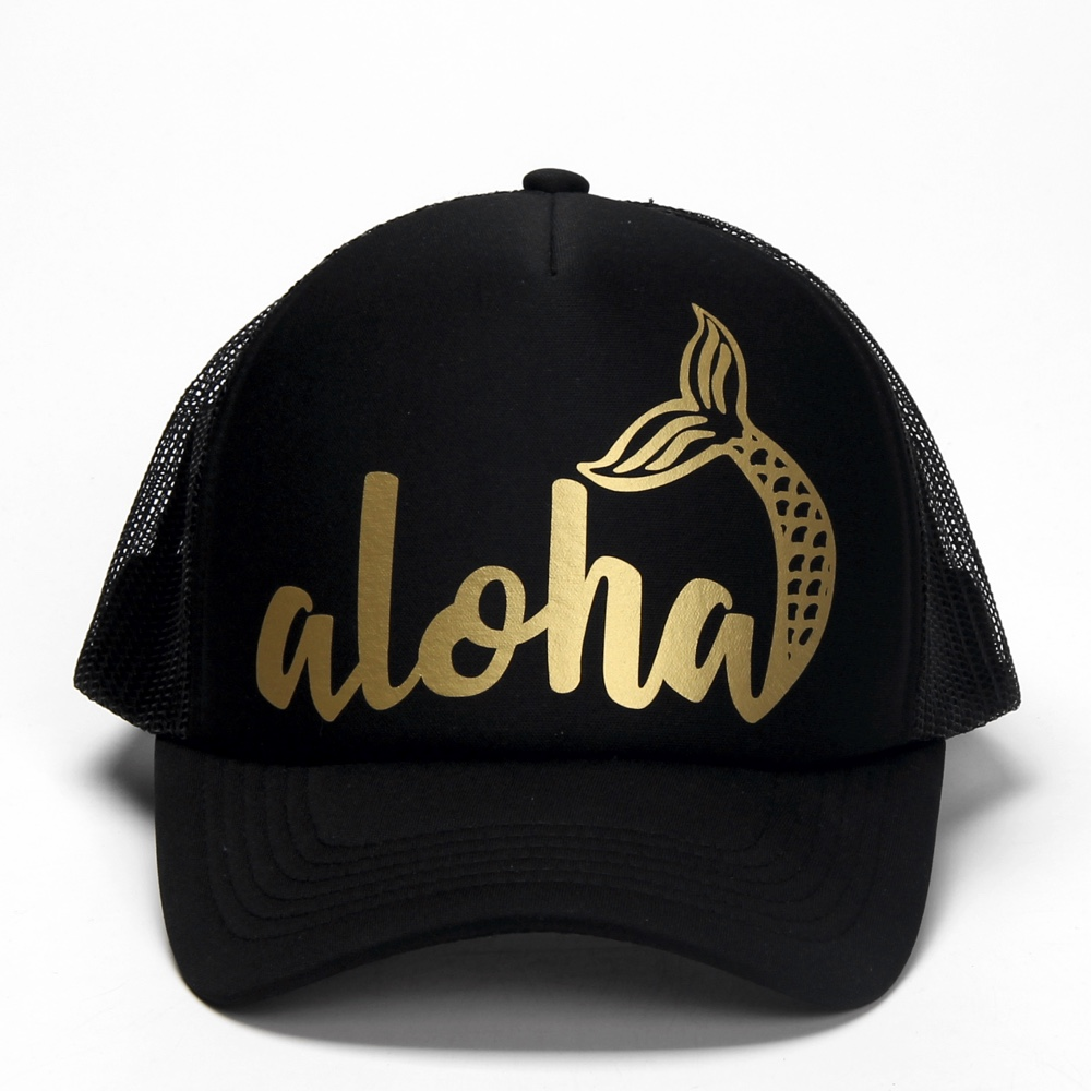 DongKing Fashion Trucker Hats Aloha Mermaid Glitter Print Printed Mesh Caps  Hawaii Beach Trucker Hats Holidays Christmas Gift-in Baseball Caps from  Apparel ... 350c19d0d94