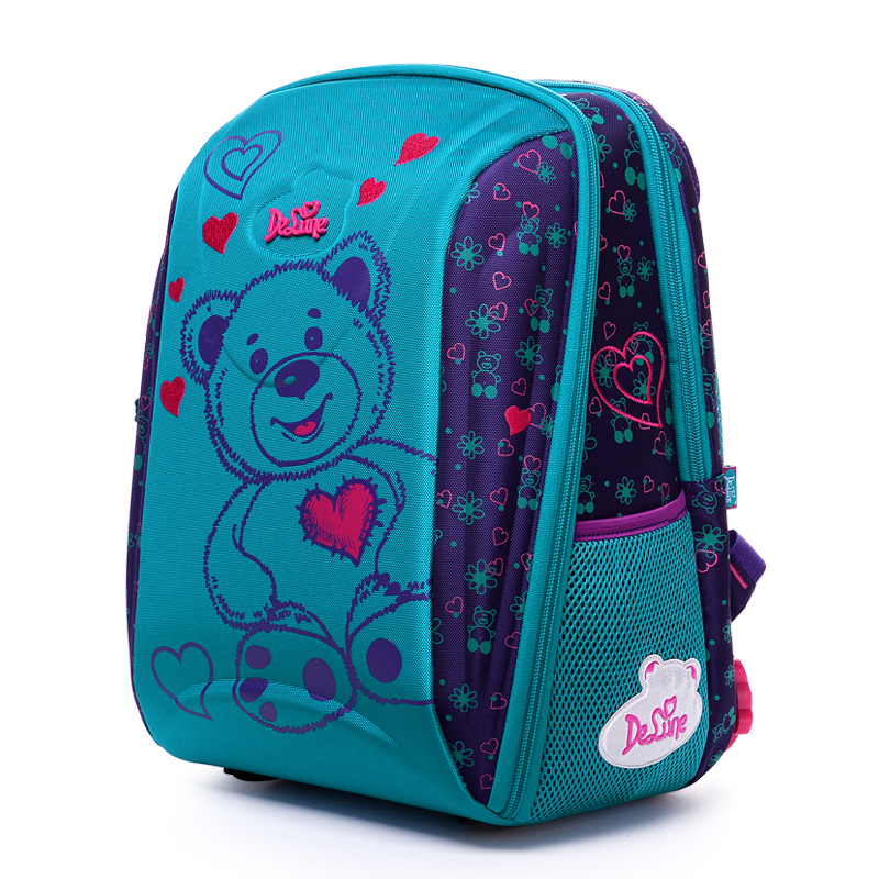 DELUNE New Orthopedic Schoolbag Large Capacity Children Backpack Kids Bag Waterproof School Bags for Girls School Backpack delune new european children school bag for girls boys backpack cartoon mochila infantil large capacity orthopedic schoolbag