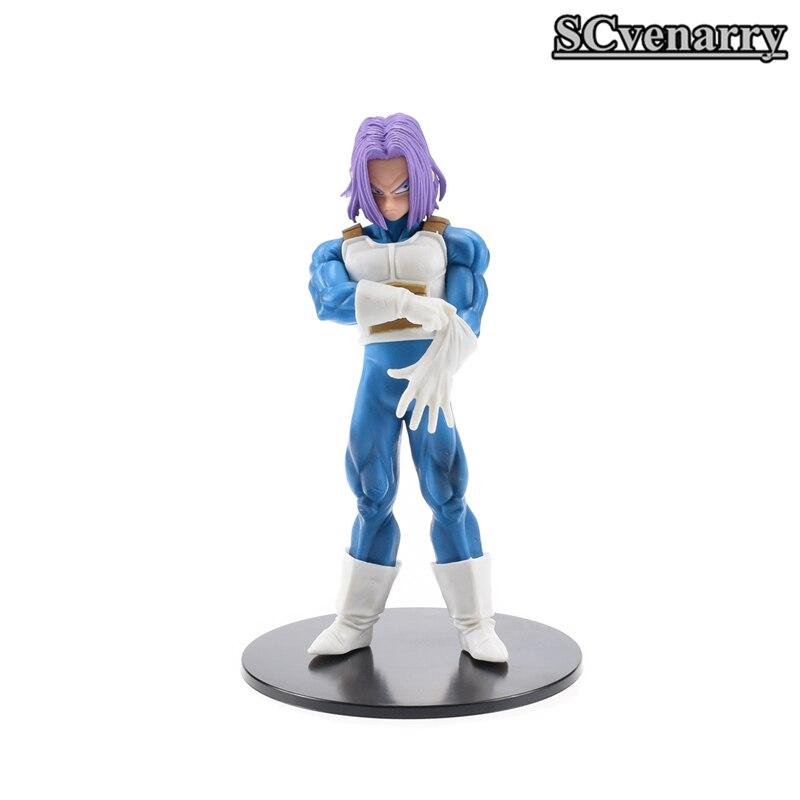 Toys & Hobbies Dragon Ball Vegeta Super Trunks & Torankusu Resolution Of Soldiers Vol.5 Dbz Super Saiyan Pvc Action Figure Model Toy 18cm