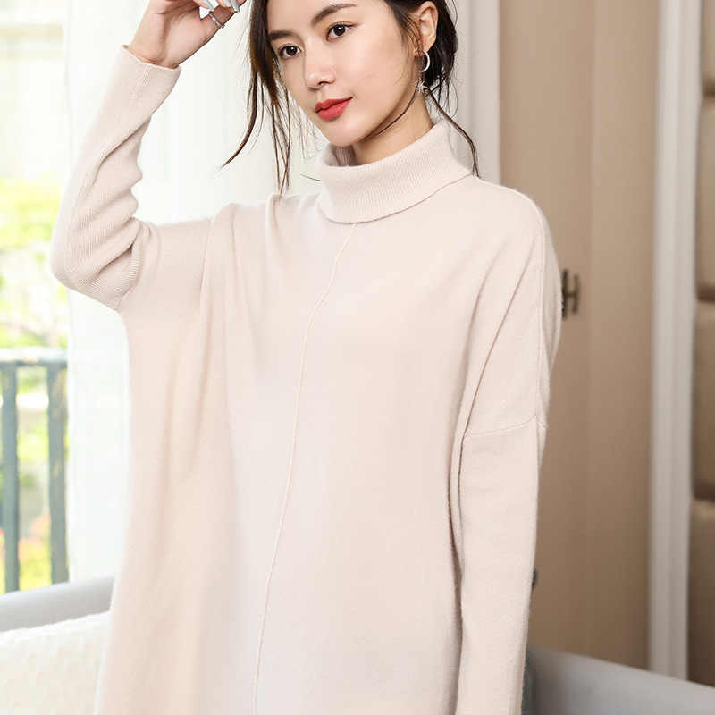 73754c6b7e5 ... Women Sweaters Loose 135cm Bust Jumpers 100% Pure Cashmere Knitting  Jumpers Winter Turtleneck 5Colors Long ...