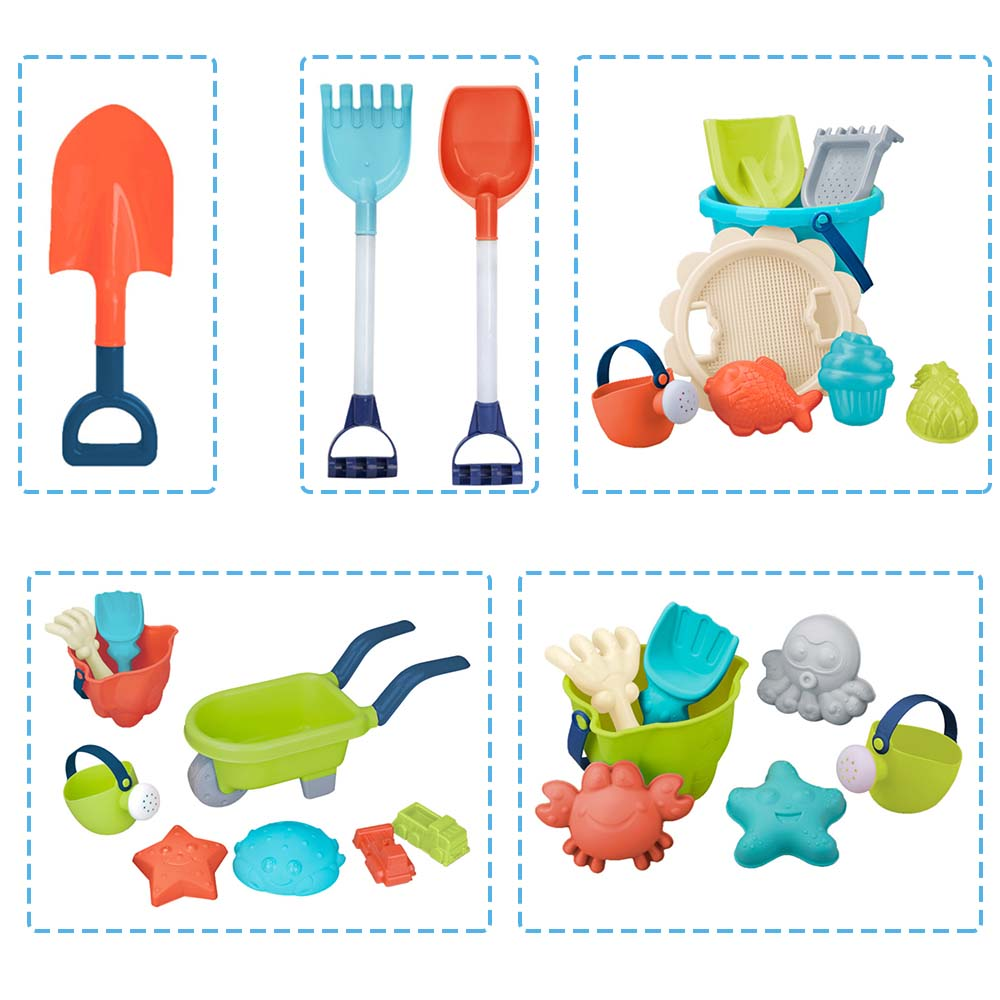 1/2/7/8/9PCS Classic Beach Sand Toys Set Portable Animals Castle Sand Clay Mold Digging Shovel Tools Bath Water Playing Toy J74