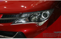 Pair chrome front headlight lamp cover Bezel Trim for 2013 2014 Toyota rav4