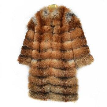 2019 جديد السيدات النار الثعلب الفراء الطبيعي معطف الشتاء الدافئ الأزياء الأوروبية والأمريكية نمط الشارع