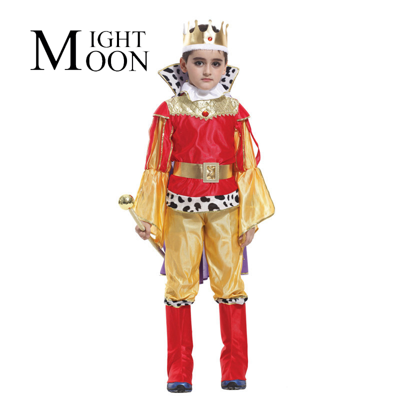 MOONIGHT Halloween King Cosplay Prince Costume Suit Costume Party Supplies Birthday Boy Role