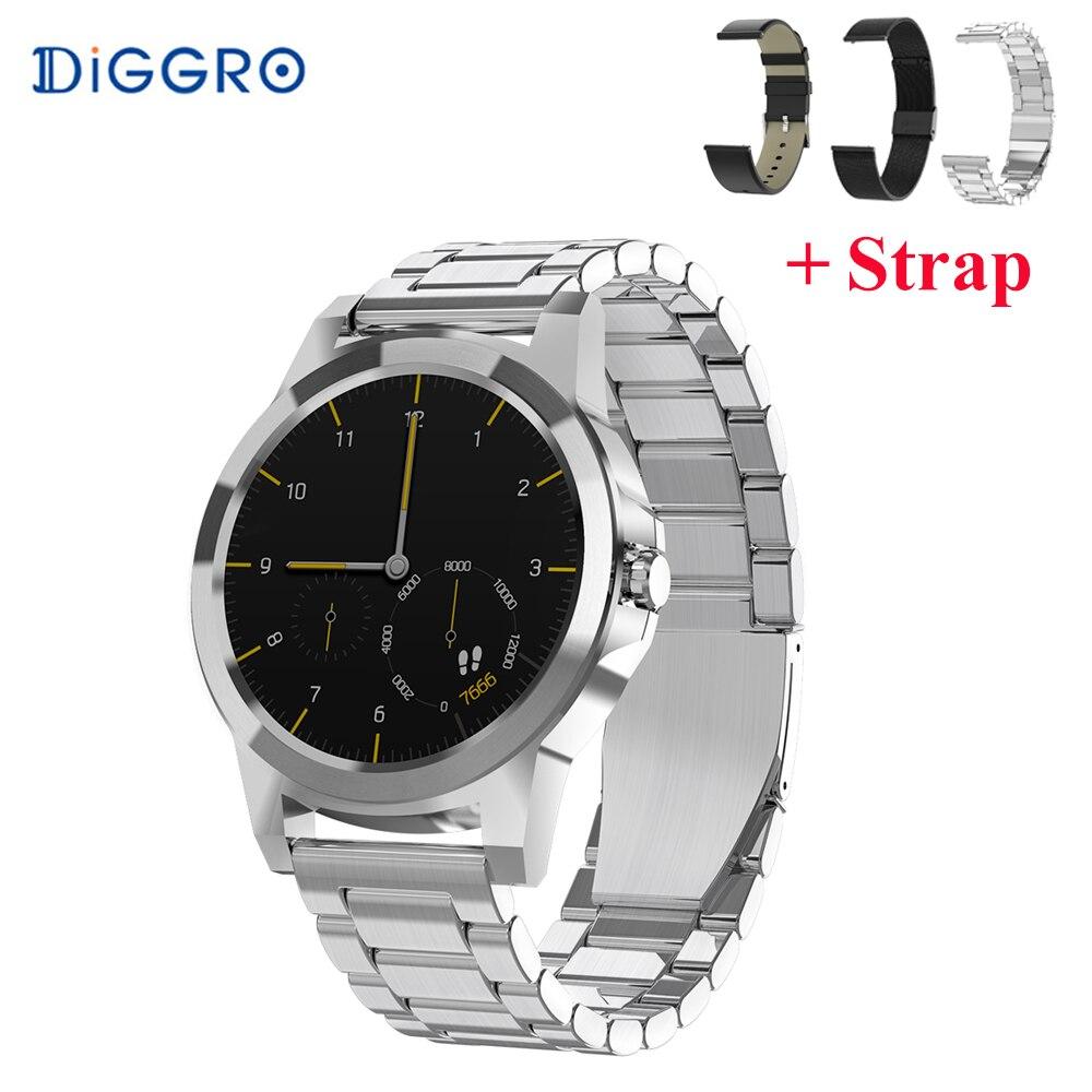 Diggro DI03 Plus montre Smart watch Bluetooth Étanche Fréquence Cardiaque Moniteur de Sommeil Podomètre 320 mah smartwatch pour Android et IOS