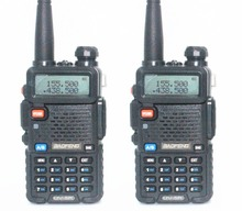 2pcs Baofeng UV-5R Two Way Radio Black Dual Band 136-174MHz&400-520 MHz Walkie Talkie Ham Radios