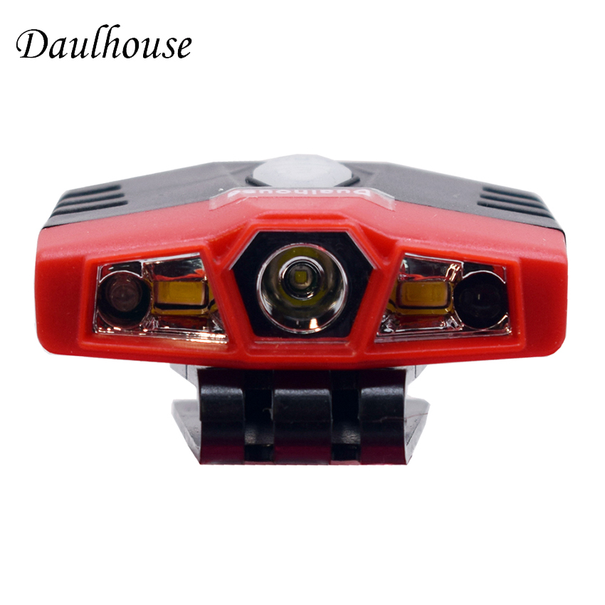 Dualhouse COB LED Body Motion Sensor Headlight Hand Wave IR Sensor Control Headlamp Rechargeable USB Camping Flashlight a11