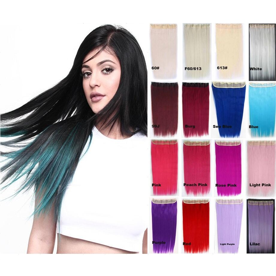 Online get cheap hair extension needed aliexpress alibaba group no need to dye your hair apply 24inch straight 5clip in wefts synthetic hair extension make pmusecretfo Images