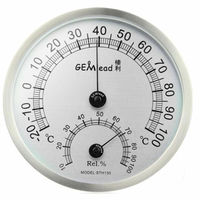 50 Off Sale High Temperature Measuring Thermometer Stainless Steel Indoor Outdoor Hygrometer Sauna Bathroom Laboratory Using