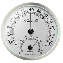 Gemlead termómetro higrómetro al aire libre de acero inoxidable de medición de alta temperatura sauna baño de laboratorio estación meteorológica