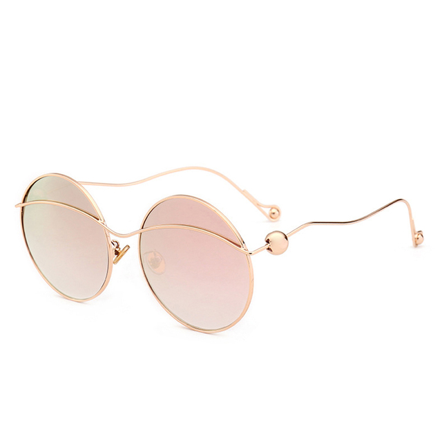 447fed35a28 VazRobe Round Sunglasses Women Men Oversized Vintage Retro Femael Sun  Glasses Steam Punk Woman s Sunglass Circle
