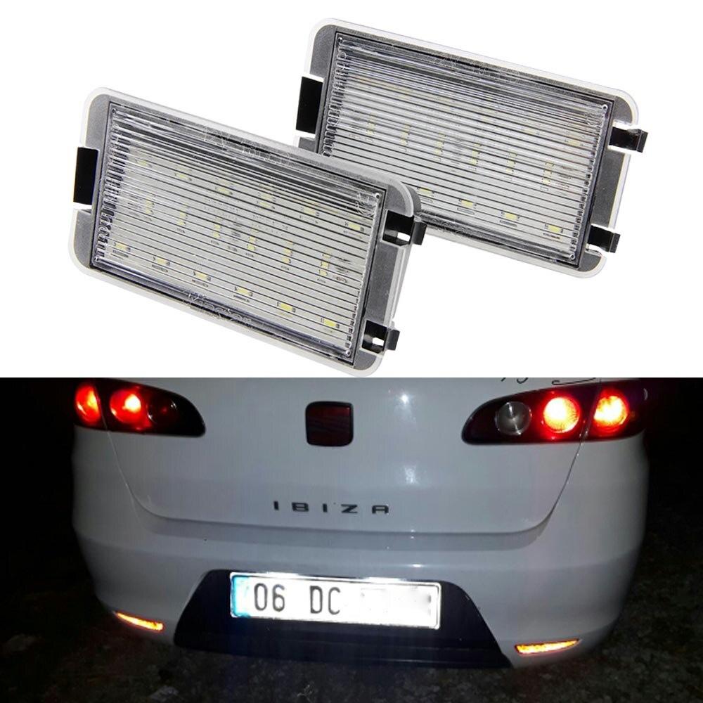 FOR FORD FOCUS MK1 98-05 WHITE CANBUS ERROR FREE NUMBER PLATE LED LIGHTS BULBS