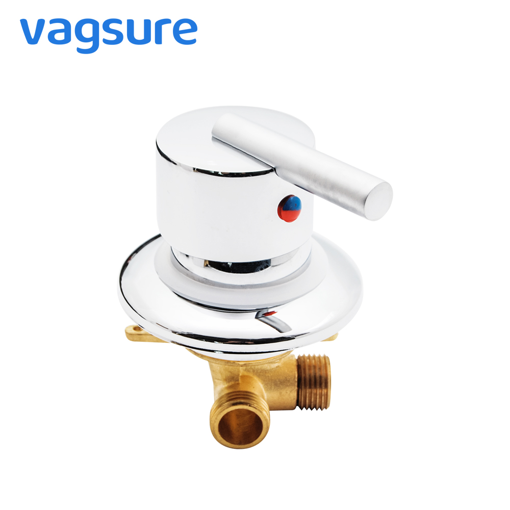 Vagsure One Ways Output Gear Screw Thread / Intubation Tap Cold and Hot Brass Shower Faucet Mixer Diverter Bathroom Cabin RoomVagsure One Ways Output Gear Screw Thread / Intubation Tap Cold and Hot Brass Shower Faucet Mixer Diverter Bathroom Cabin Room