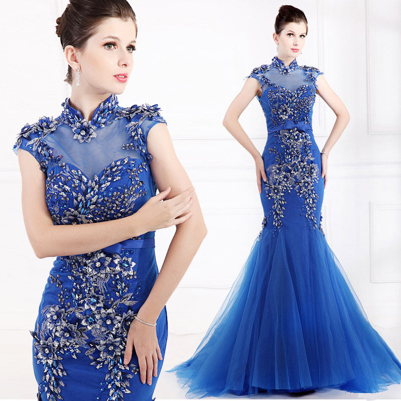 Chinese Vintage Style Evening Prom Dresses Oscar Awards Red Carpet ...
