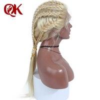 QueenKing Hair 100 European Human Full Lace Wig 180 Density Blonde 613 Silky Straight Preplucked Hairline