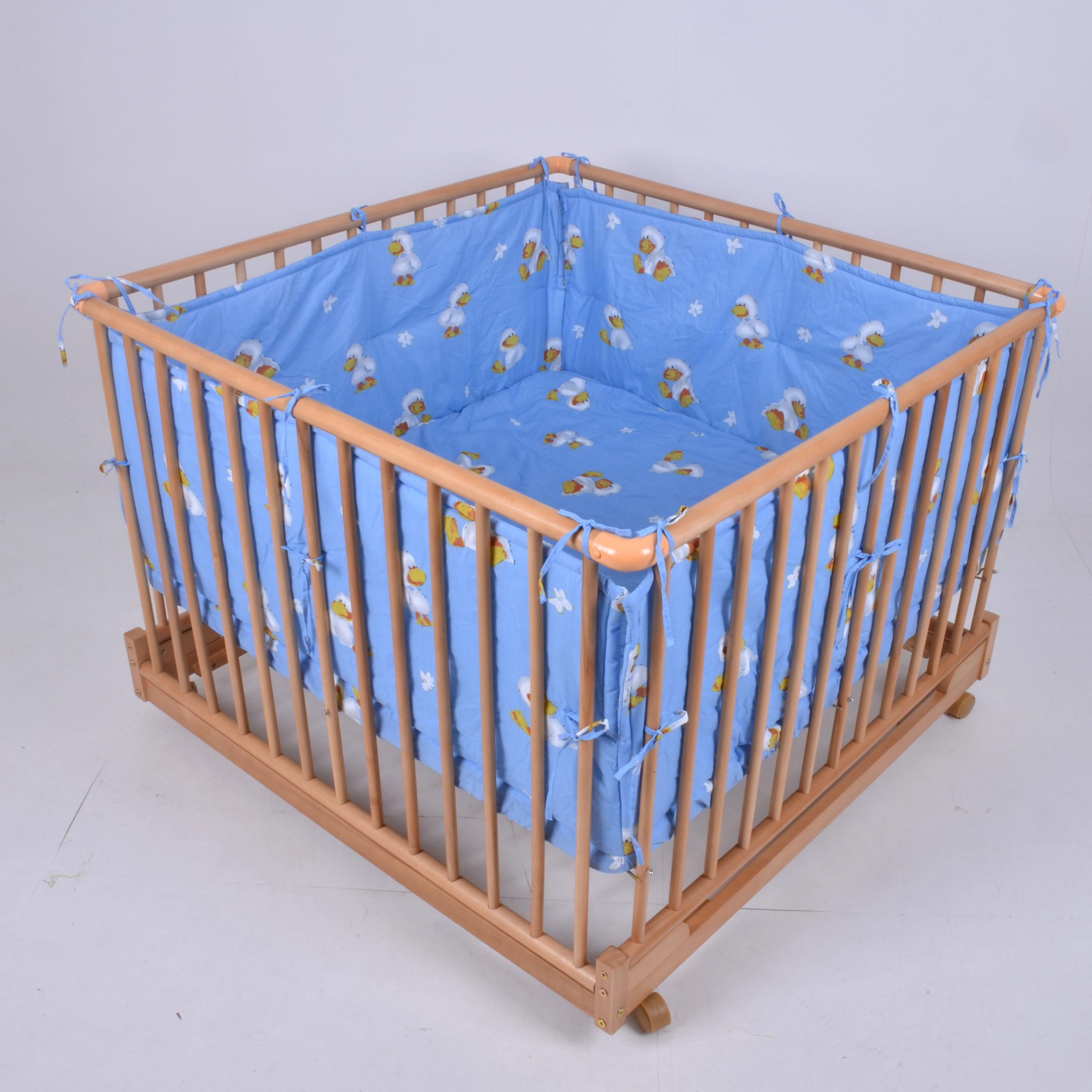 цена European Solid Wood Baby Multi-functional Safety Game Fence Bed Adjustable Safety Game Fence Bed