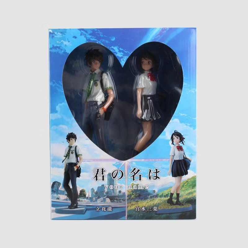 2 PCS Seu Nome Figura de Ação Brinquedo Modelo kimino na wa Miyamizu Mitsuha Animes Japoneses para Crianças Brinquedos Figuras de Ação presente