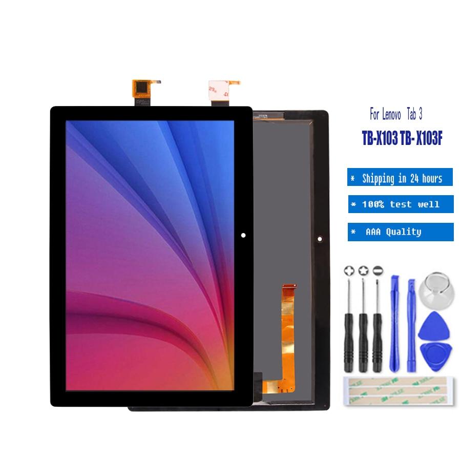Black For Lenovo Tab 3 Plus TB-X103F TB-X103 Touch Screen Digitizer Glass New SL