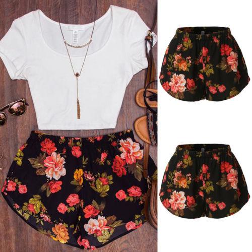 Fashion-Women-Short-Pants-Casual-Printed-Sports-Short-Summer-Beach-Hot-Pants
