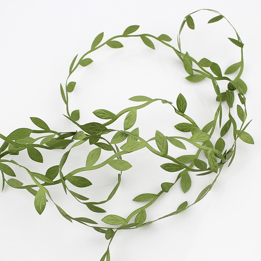 40M Artificial Plants Fake Leaf Vine Simulation Foliage Vines Green Leaves Rattan Wreath Decorative Home Wall Garden Party Decor